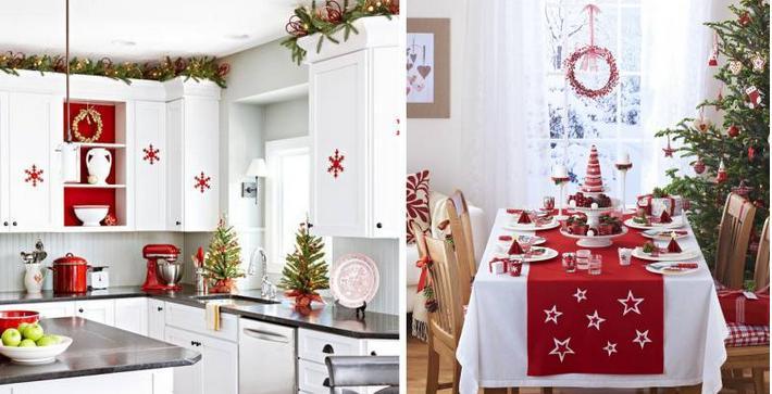 кухня украшение по новогоднему