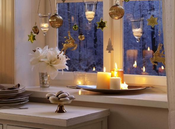 украшение окон новогоднее